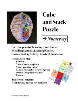 CUBE AND STACK PuZZLES: Numeracy