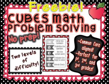 CUBES Math Problem Solving--Common Core, Perfect for Grade