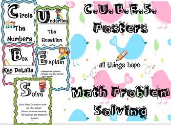 CUBES Math Problem Solving Posters