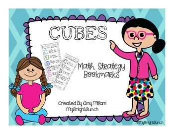 CUBES Math Problem Solving Strategy Student Bookmarks