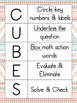 CUBES Math Strategy Posters- Tribal Themed