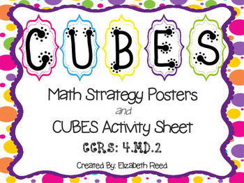 CUBES Math Strategy Posters *with* CUBES Activity Sheet {B