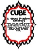 CUBES Math Word Problem Strategy poster (CUSTOM ORDER)
