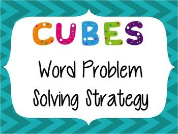 CUBES Problem Solving Strategy--Teal Chevron