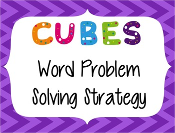 CUBES Problem Solving Strategy--Purple Chevron