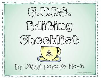 Writing: C.U.P.S. Editing Checklist