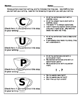 CUPS Editing Checklist