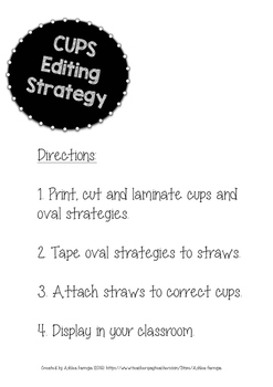 CUPS Editing Strategy