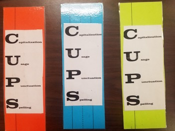 Revise and Edit CUPS Pinch Cards