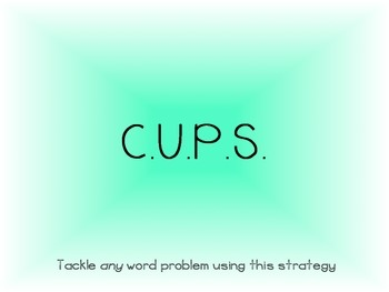 CUPS Word Problem Strategy