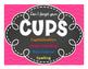 CUPS classroom chevron poster and individual desk checklist