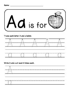 CUTE Handwriting practice pages {Zaner-Bloser & D'Nealian}