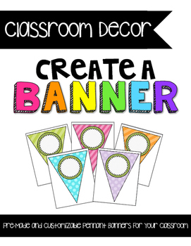 {CUTE} and {COLORFUL} Classroom Decor Pack! {Customize} Yo