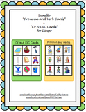 "Zingo Cards for ""CV, VC, & CVC"" and ""Pronoun & Verbs"""