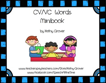 CV/VC Minibook for Apraxia