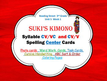 Suki's Kimono  CV / VC  & CV/V Syllables  Photo Center Car