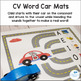 CV Word Car Mats for Apraxia and Initial Consonant Deletion
