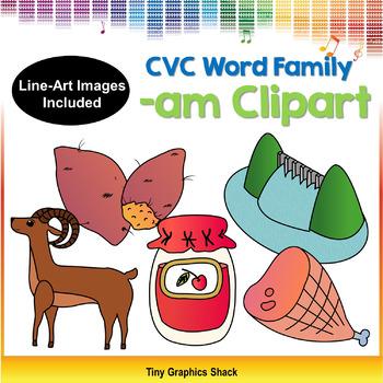 CVC -AM Word Family Clip Art (Short A)