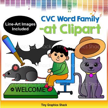CVC -AT Family Clip Art (Short A)
