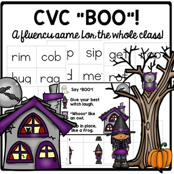 "CVC ""BOO"" A whole group fluency game!"