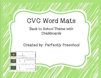 CVC Back to School Word Mats