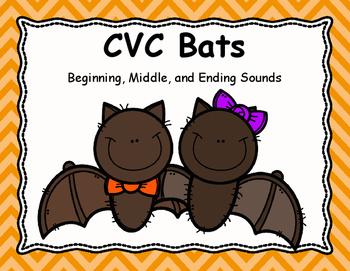 CVC Bats - Beginning, Middle, and Ending Sounds