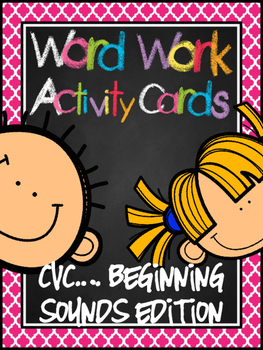 Word Work Activity Cards--Isolating Beginning Sounds (in