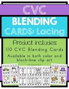 CVC Blending Word Card: Lacing Activity