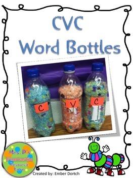CVC Bottles and Word Work