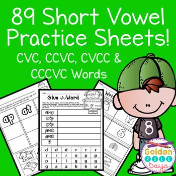 Short Vowels CVC, CCVC, CVCC, CCCVC Practice Sheets! 89 No