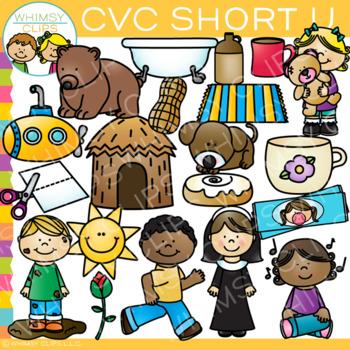 CVC Clip Art: Short U Clip Art Volume One