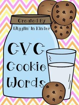 CVC Cookie Word Sort - Real & Non-Sense {Freebie}