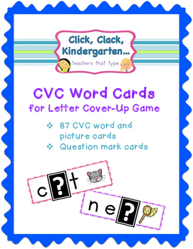 CVC Letter Cover-Up Game Cards {CVC Practice}
