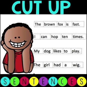 CVC Cut Up Sentences