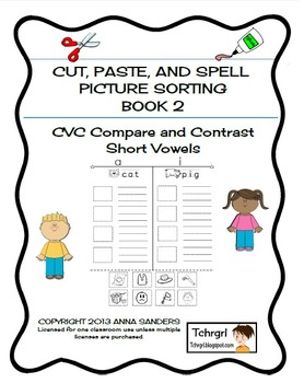 Cut and Paste & Spell Phonics Picture Sorting... by Tchrgrl ...