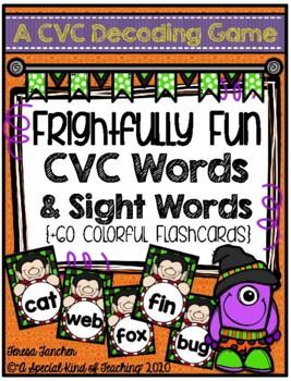 CVC Decoding Game- Frightfully Fun CVC Words & Sight Words