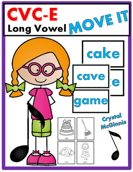 CVC-E Long Vowel Word JUST MOVE! (A Get Up and Move Around