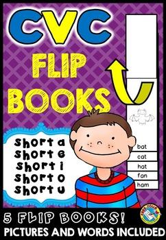 SHORT VOWELS PRINTABLES: CVC WORDS FLIP BOOKS: CVC WORDS R