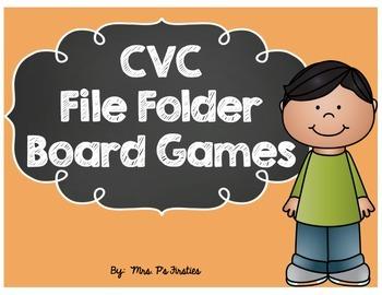 CVC File Folder Board Games