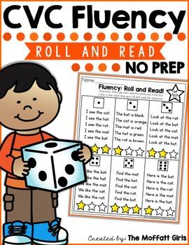 CVC Fluency: Roll and Read