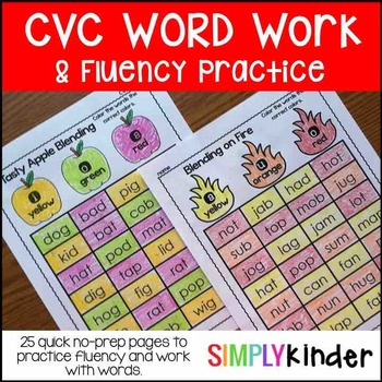 CVC Fluency Word Work