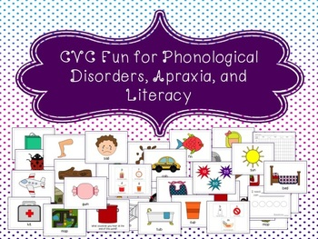 CVC Fun for Phonological Disorders, Apraxia, & Literacy