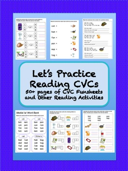 CVC Funsheets and Activities