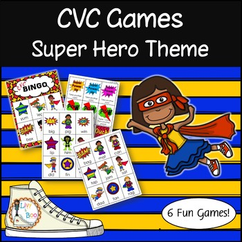CVC Game Pack - Super Hero Themed