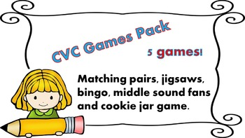 CVC Games Pack - 5 fun, interactive games.