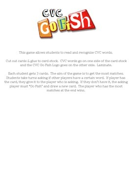 CVC Go Fish Game