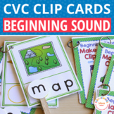 CVC Words: Initial Sound Clip Cards for CVC word families