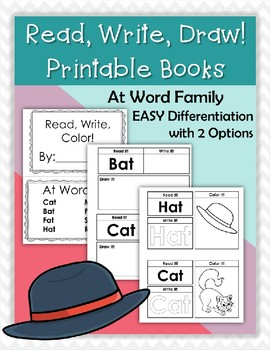 CVC Printable Book -At Word Family
