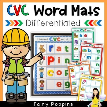 CVC Word Mats (Magnetic Letters, Write & Wipe)