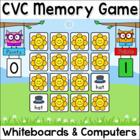 CVC Words Game: Short Vowel Sounds SMARTboard & Computer G